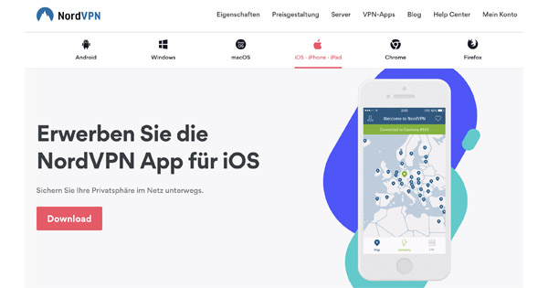 NordVPN für iOS