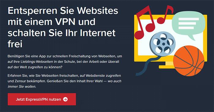 ExpressVPN entsperre websites