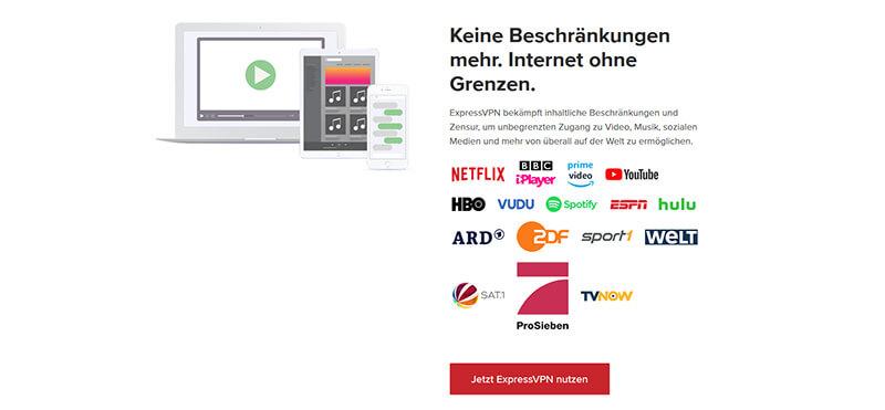 ExpressVPN streaming