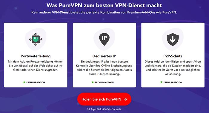 PureVPN Dienst