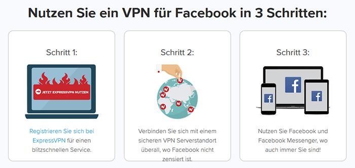 Schalte Facebook mit ExpressVPN frei