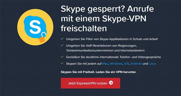 Skype ExpressVPN