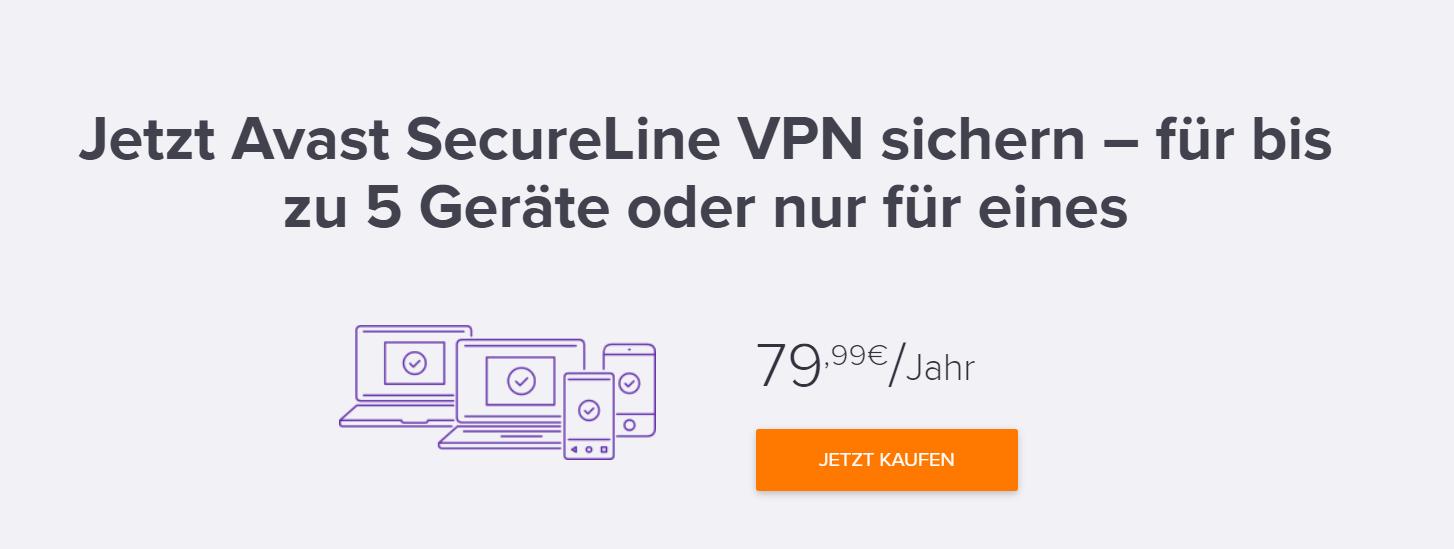 Avast SecureLine_5 Geräte