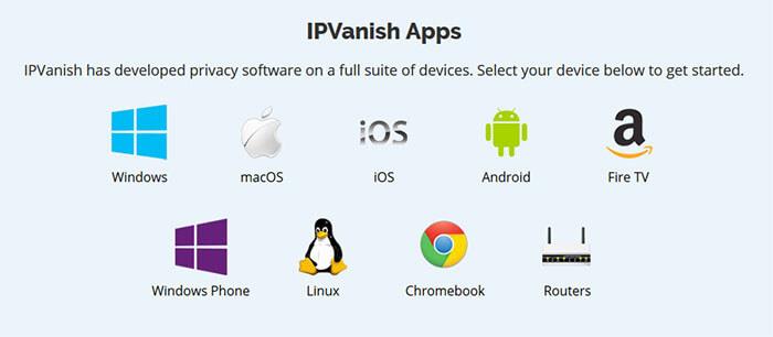 Applications IPVanish