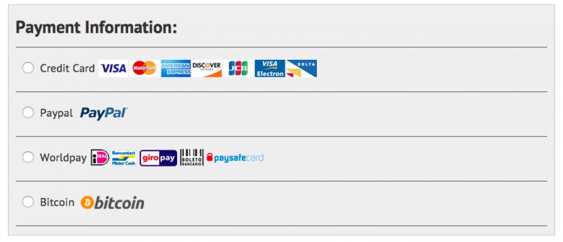 IPVanish_Zahlungsarten