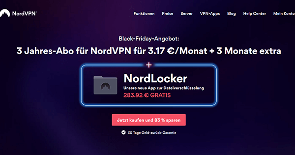 Black Friday Angebot NordVPN
