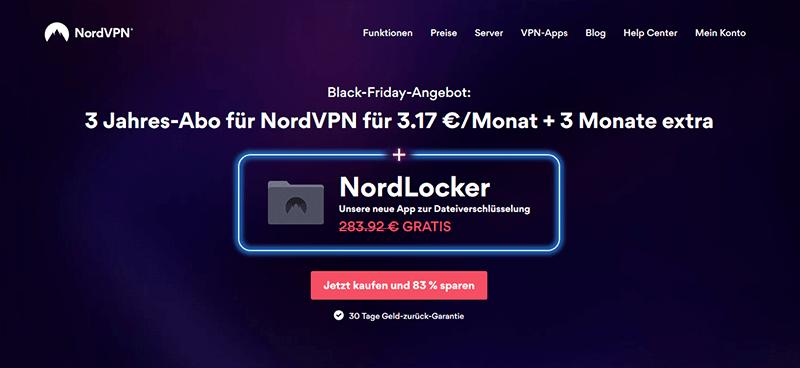NordVPN Angebot Black Friday