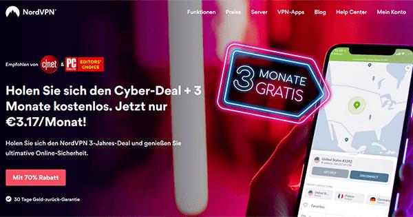 NordVPN Cyber Month Deutschland